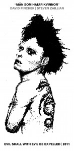 Rooney Mara as Lisbeth Salander - Drawing by Karthik Abhiram