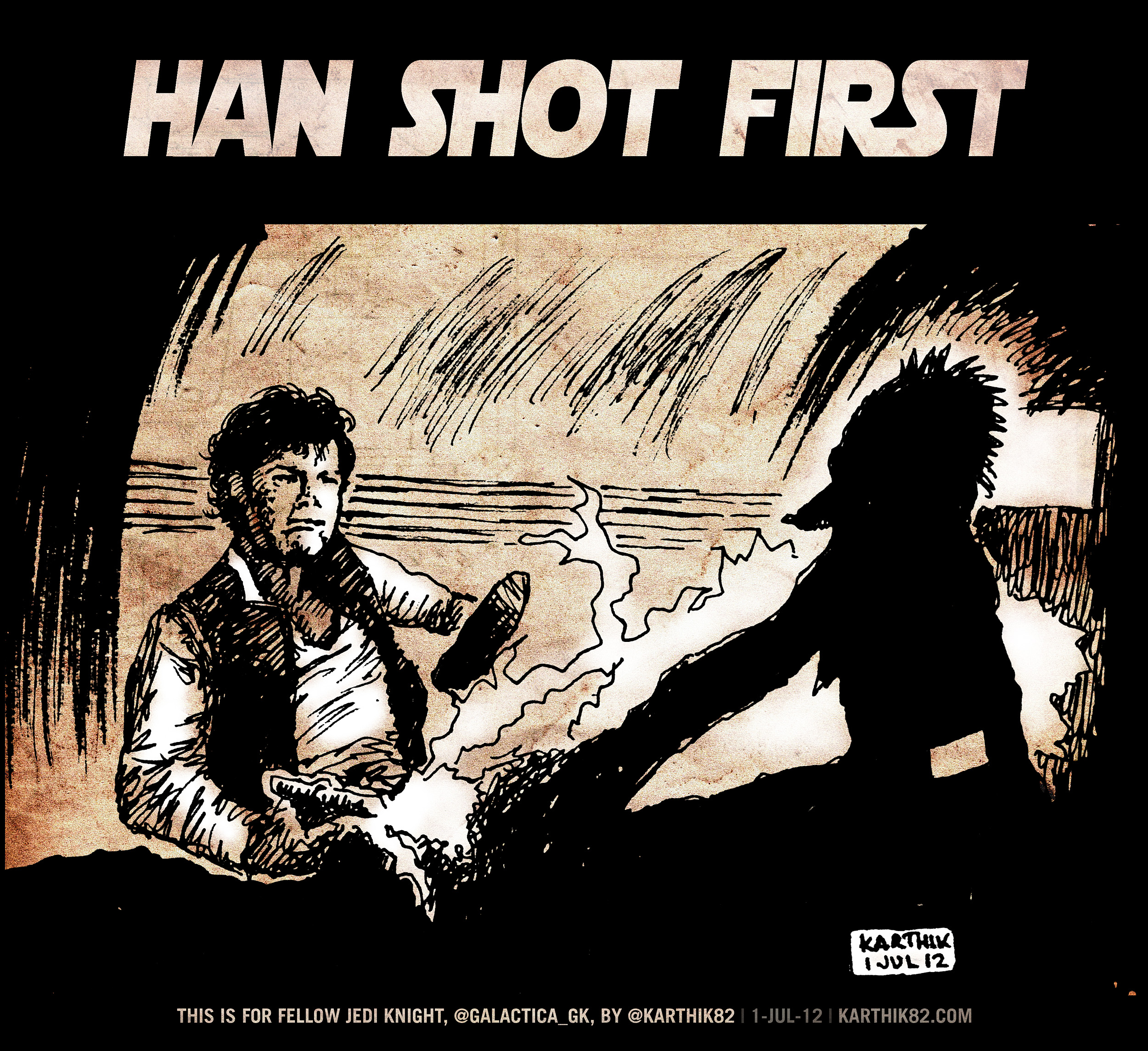 Birthday Scene Drawing Han Shot First Textedit