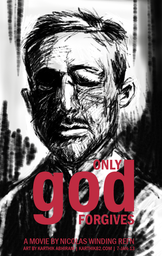 Only God Forgives - Drawing by Karthik Abhiram