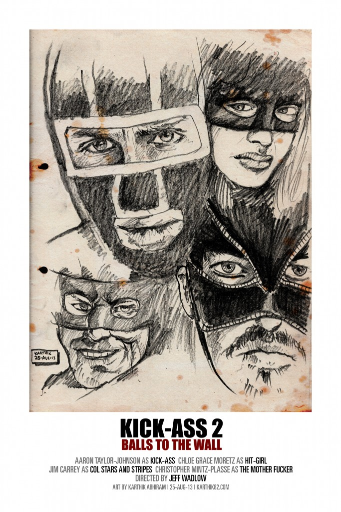 Kick-Ass 2 - Drawing by Karthik Abhiram