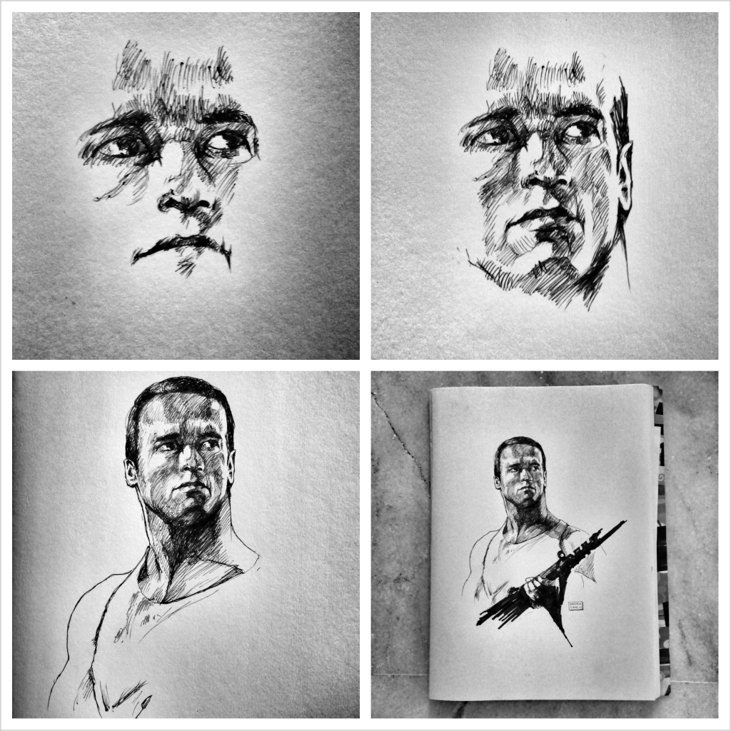 Arnold Schwarzenegger in RAW DEAL - Artwork by Karthik Abhiram - In-Progress