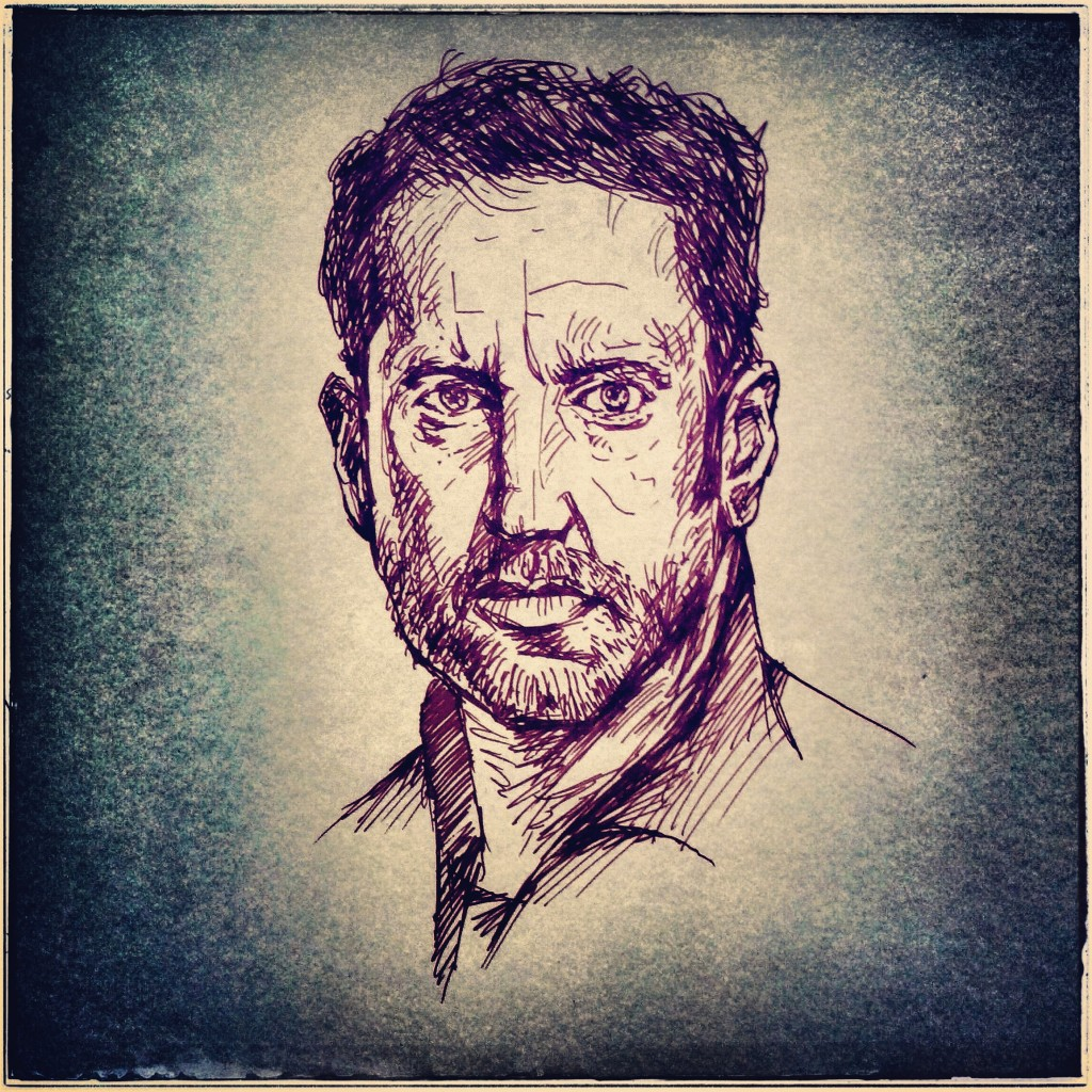 Trent Reznor Drawing, the Instagram Edition - Artwork by Karthik Abhiram