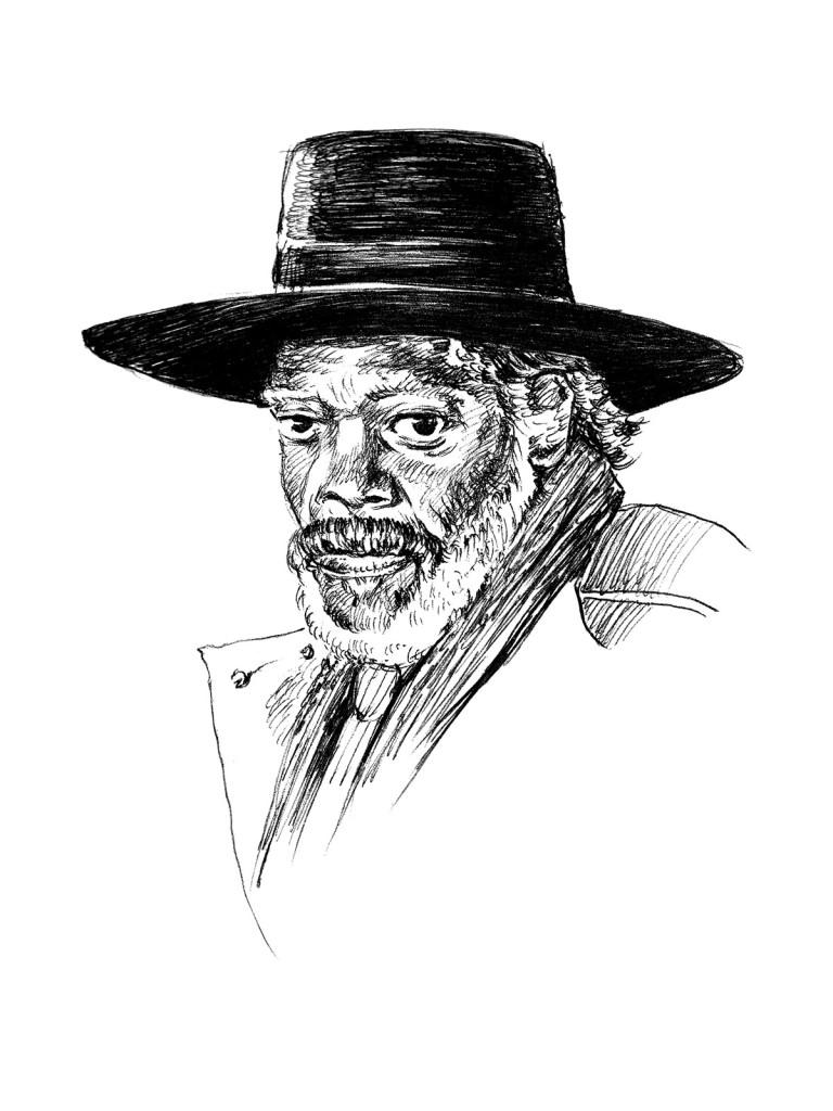 Samuel L Jackson as Major Marquis Warren from The Hateful Eight - Artwork by Karthik